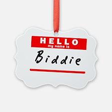 Biddie Ornament