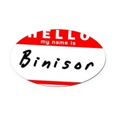Binisor Oval Car Magnet