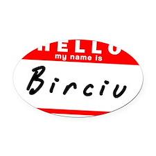 Birciu Oval Car Magnet