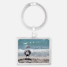 Gray gull Landscape Keychain