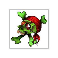 "JollyRoger Square Sticker 3"" x 3"""
