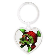 JollyRoger Heart Keychain
