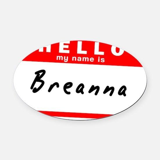 Breanna Oval Car Magnet