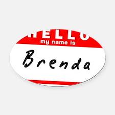Brenda Oval Car Magnet
