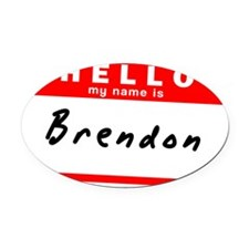 Brendon Oval Car Magnet