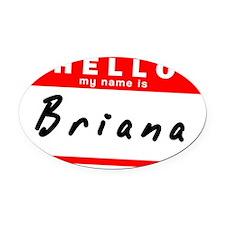 Briana Oval Car Magnet