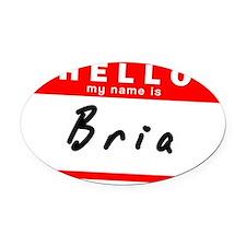 Bria Oval Car Magnet