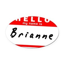 Brianne Oval Car Magnet
