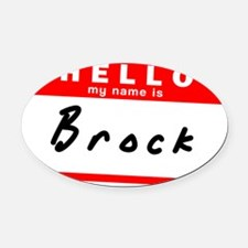Brock Oval Car Magnet
