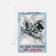 newcard liberating retirement Greeting Card
