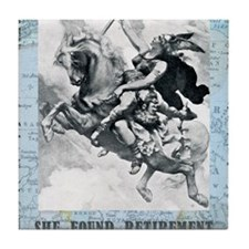 newcard liberating retirement Tile Coaster