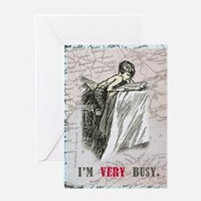 newCard I am very busy Greeting Card