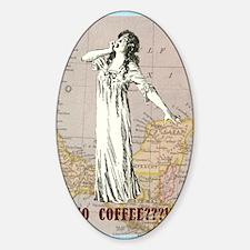newCard no coffee Sticker (Oval)