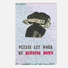 newworkburning-down Postcards (Package of 8)