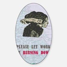 newworkburning-down Sticker (Oval)