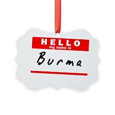 Burma Ornament