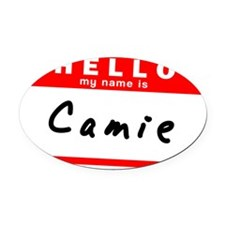 Camie Oval Car Magnet