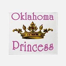 Oklahoma Princess with Tiara Throw Blanket