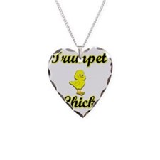 Trumpet Chick Necklace Heart Charm