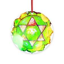 heart chakra shirt Round Ornament