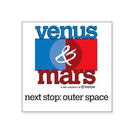 """10x10_apparel venusmars Square Sticker 3"""" x 3"""""""