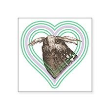 "Owl T-shirt 10x10 Square Sticker 3"" x 3"""
