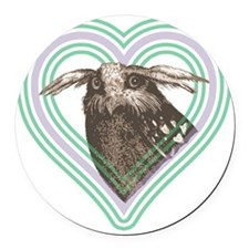 Owl T-shirt 10x10 Round Car Magnet