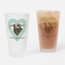 Owl love you forever 10x10 Drinking Glass
