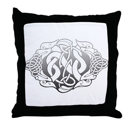 Celtic Steel: Guardian Dogs Throw Pillow