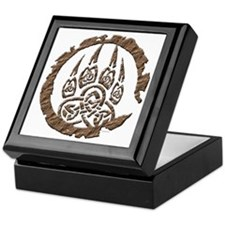 Celtic Stone: Bear Paw Keepsake Box