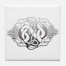 Celtic Steel: Guardian Dogs Tile Coaster