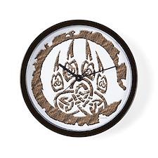 Celtic Stone: Bear Paw Wall Clock