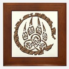Celtic Stone: Bear Paw Framed Tile
