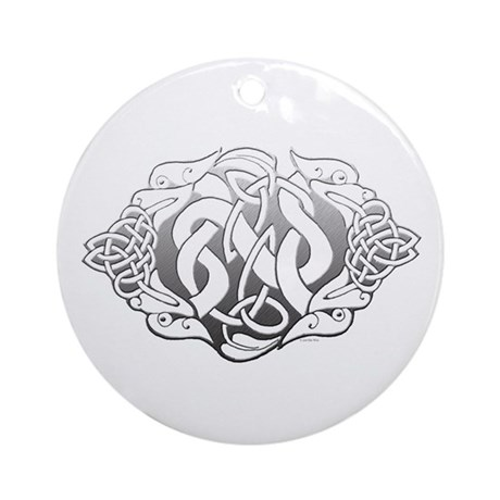 Celtic Steel: Guardian Dogs Ornament (Round)