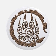 Celtic Stone: Bear Paw Ornament (Round)