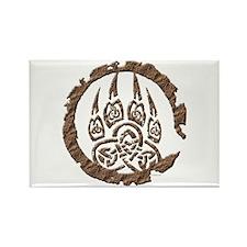 Celtic Stone: Bear Paw Rectangle Magnet