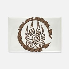 Celtic Stone: Bear Paw Rectangle Magnet
