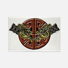 Celtic Horses Tribal Rectangle Magnet