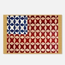 Patrotic USA  quilted fla Postcards (Package of 8)