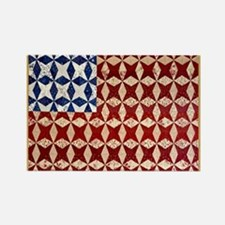 Patrotic USA  quilted flag  note  Rectangle Magnet