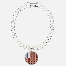 Patrotic USA  quilted fl Bracelet
