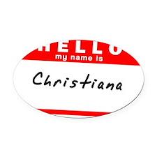 Christiana Oval Car Magnet