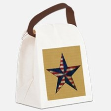 Patrotic USA  star flag  note car Canvas Lunch Bag