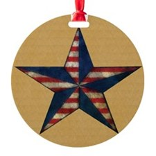 Patrotic USA  star flag  note card Ornament