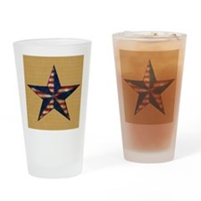 Patrotic USA  star flag  note card Drinking Glass