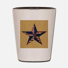 Patrotic USA  star flag  note card Shot Glass