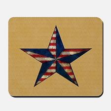 Patrotic USA  star flag  note card Mousepad