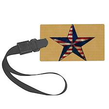 Patrotic USA  star flag  note ca Luggage Tag