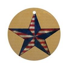 Patrotic USA  star flag  note card Round Ornament