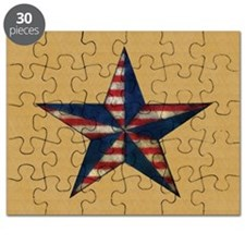 Patrotic USA  star flag  note card Puzzle
